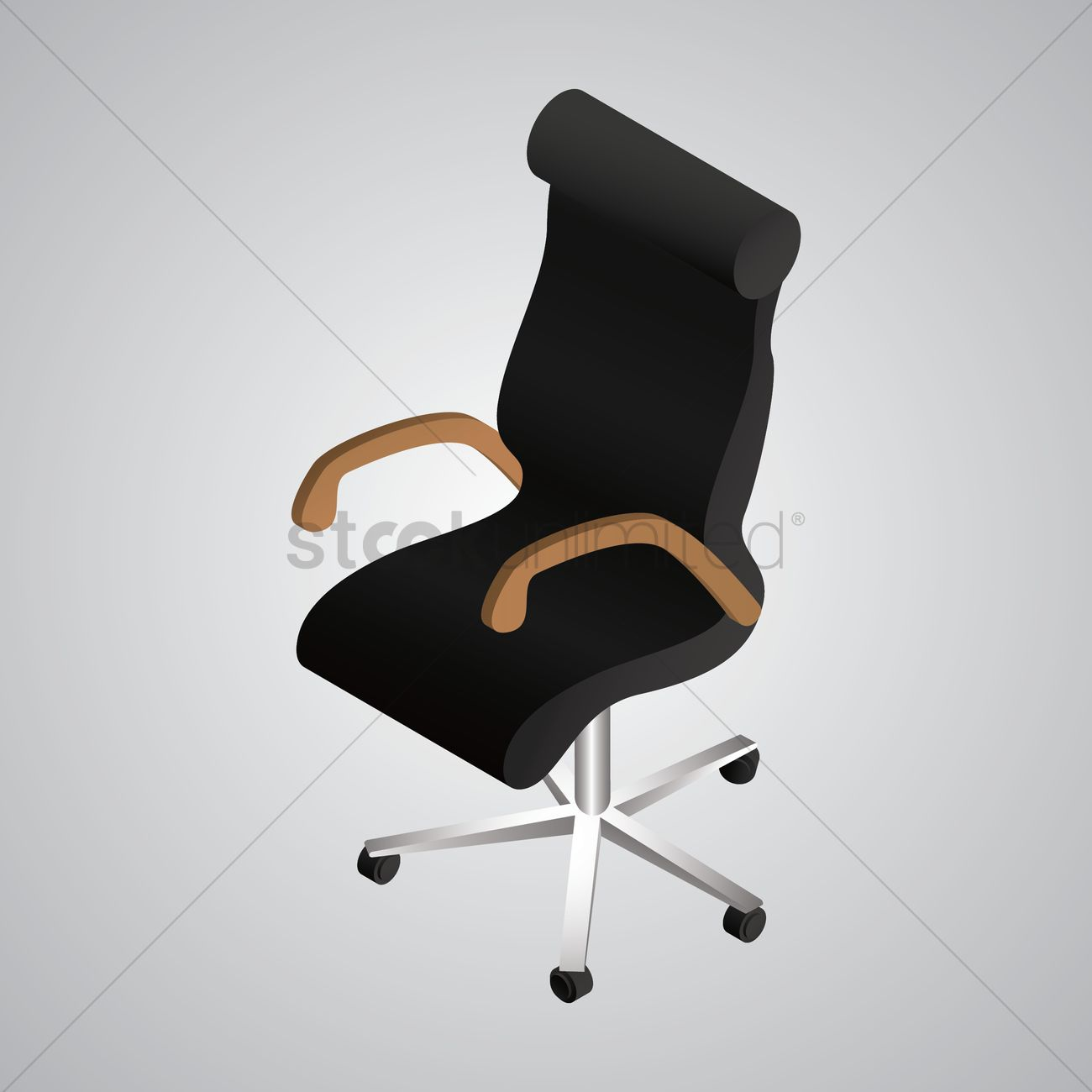 isometric office chair vector graphic furniture collection35 vector