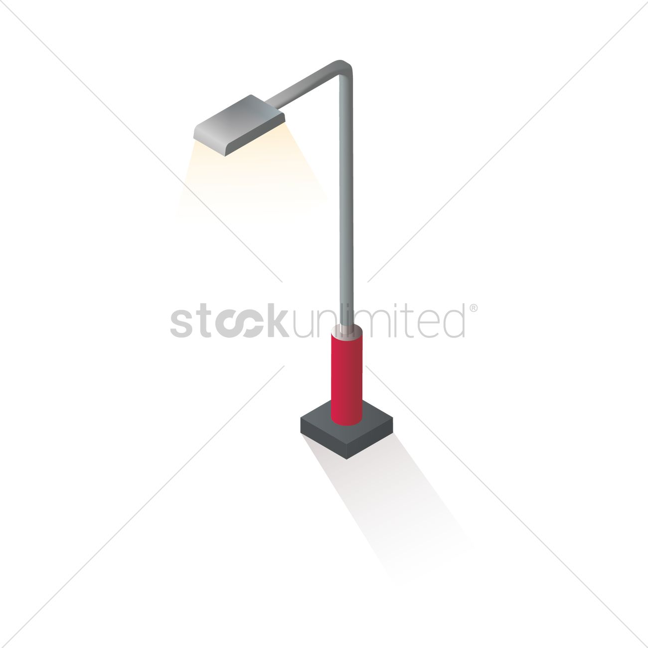 Isometric street lamppost Vector Image - 1608468 | StockUnlimited for Street Lamp Post Vector  165jwn