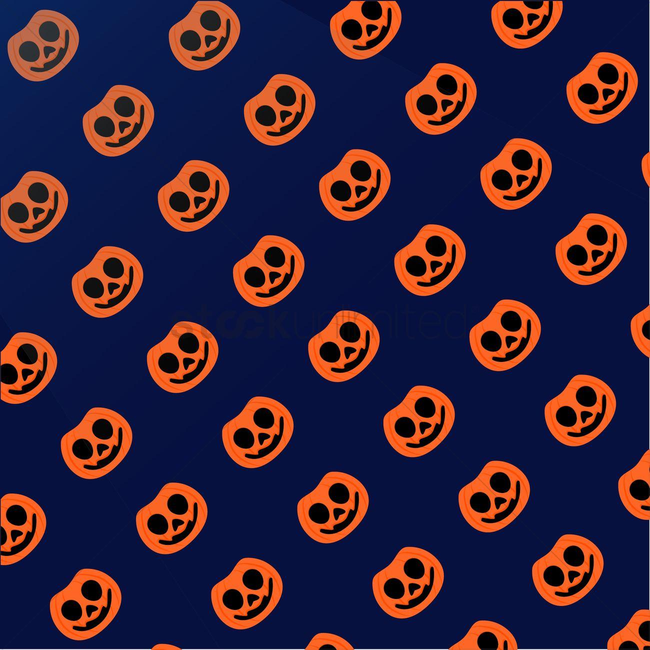 Jack O Lantern Halloween Background Vector Image 1260108 Stockunlimited