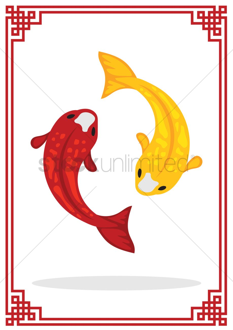 Japanese koi fish Vector Image - 1315156 | StockUnlimited