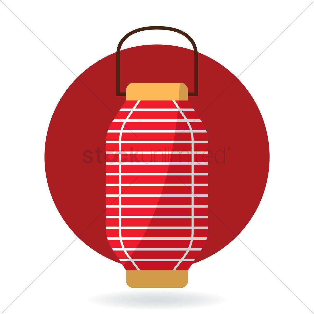 Japanese Lantern Vector Graphic