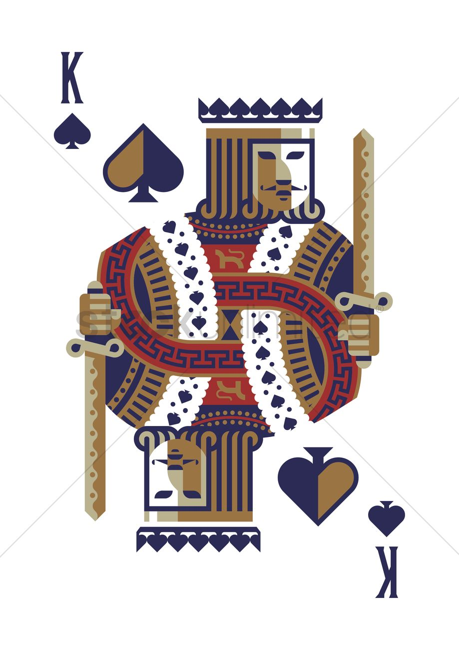King Of Spades Vector Image 2009076 Stockunlimited