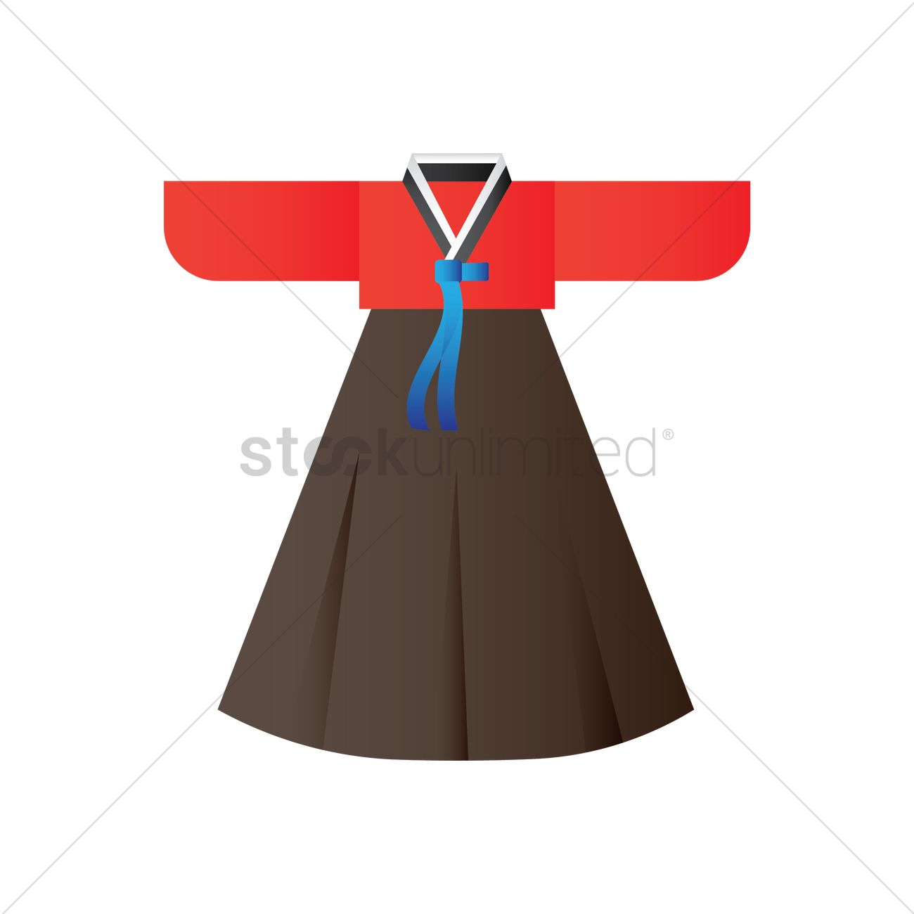 Korean Traditional Womens Clothing Vector Image 2013816