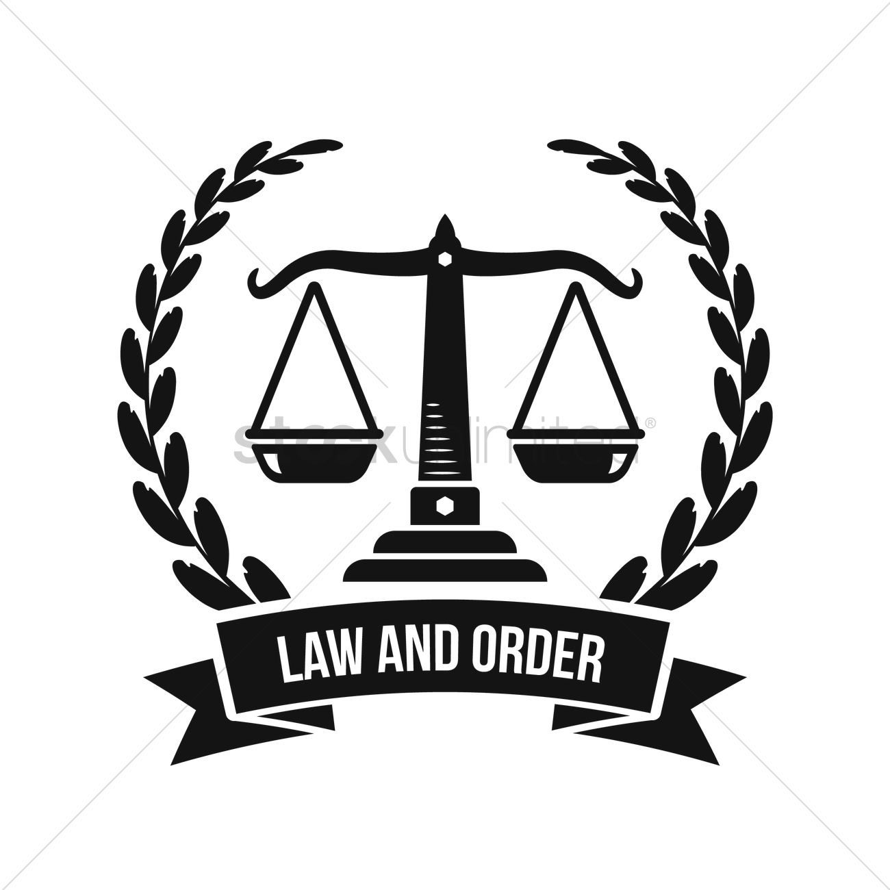 Law and order logo element Vector Image - 1982836 ...