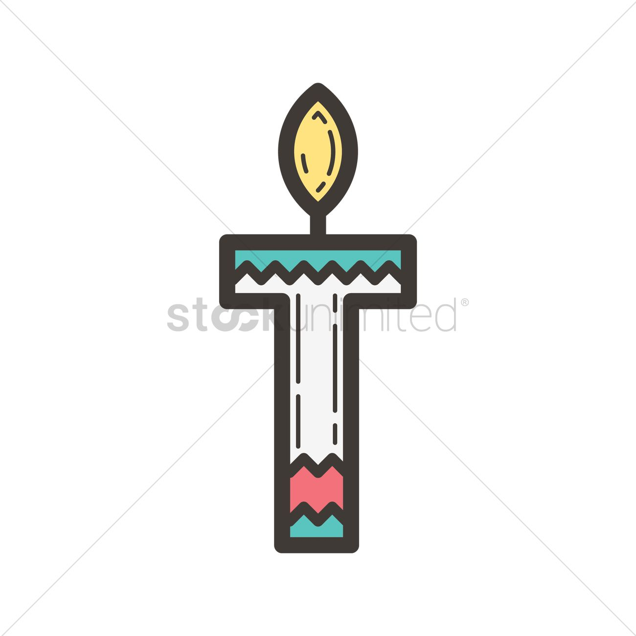 Letter t in candle design Vector Image - 1962436 ...