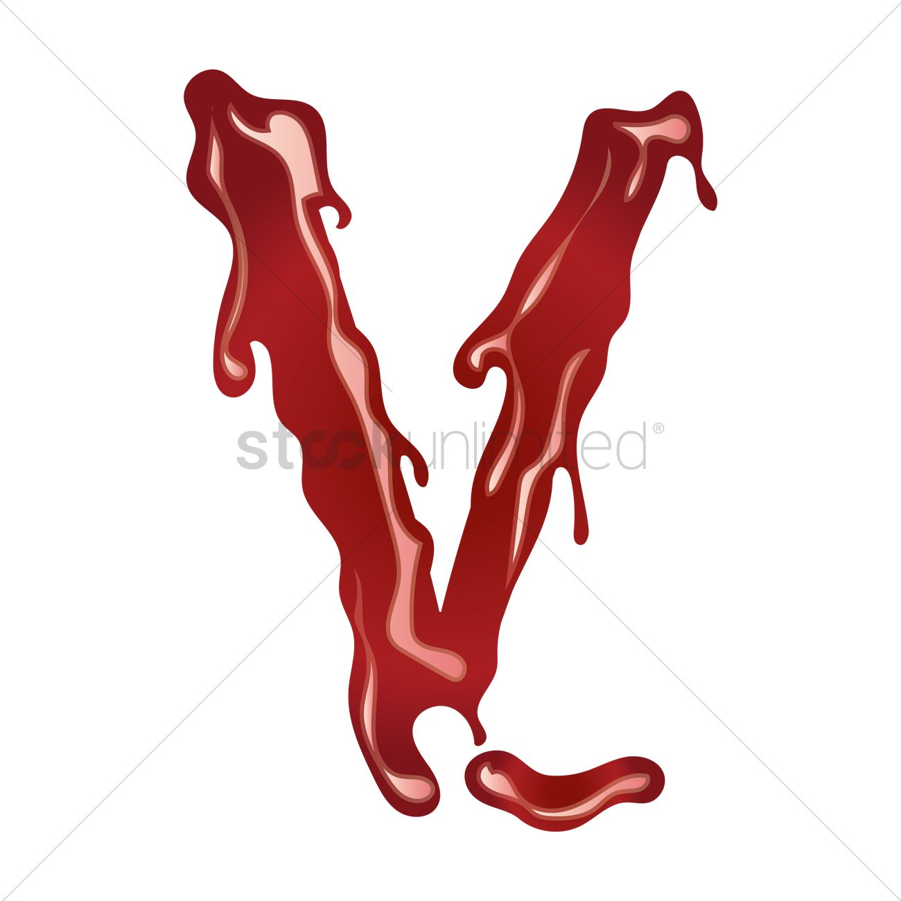 Letter V With Dripping Blood Vector Image 1499420 Stockunlimited
