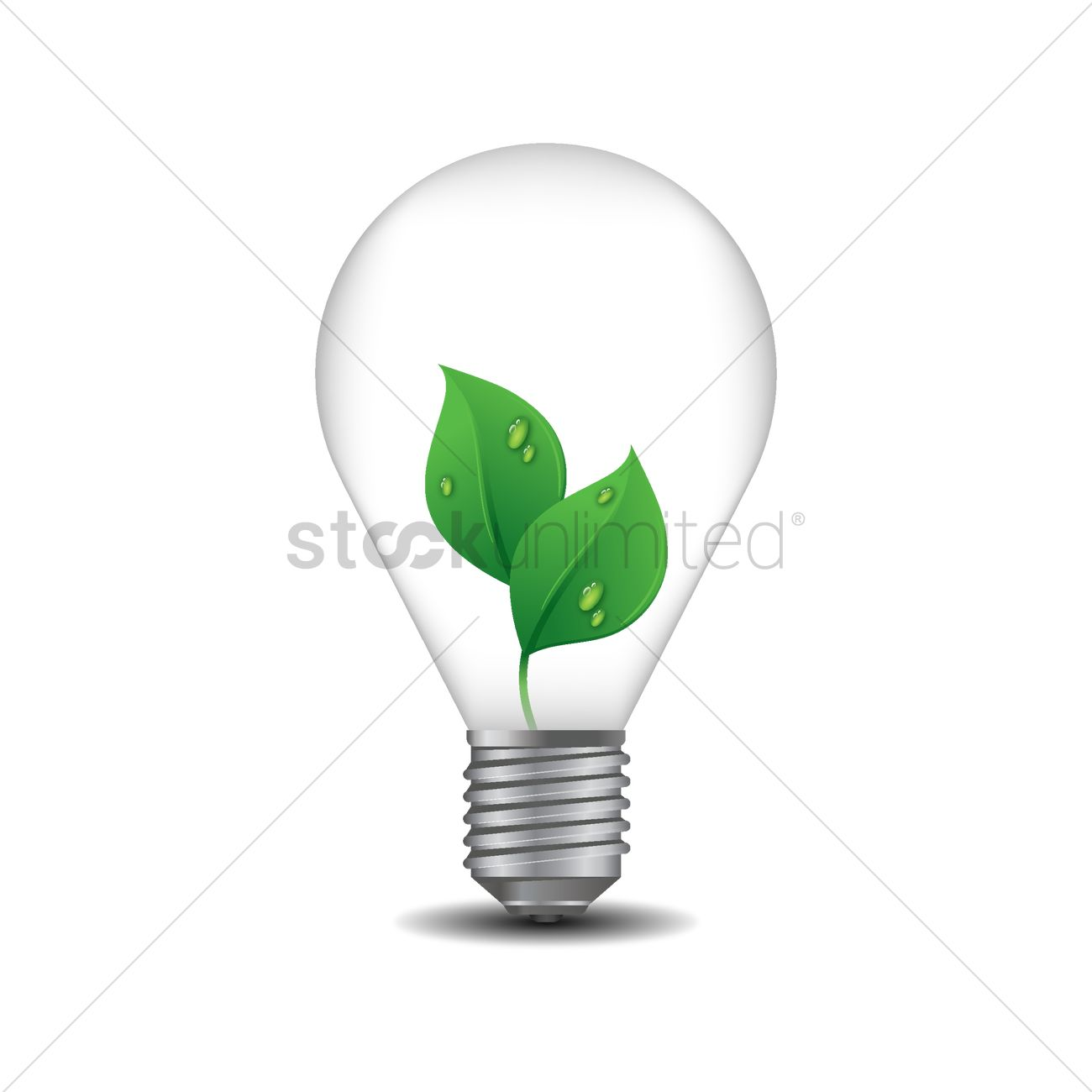 Light Bulb With Eco Friendly Concept Vector Graphic