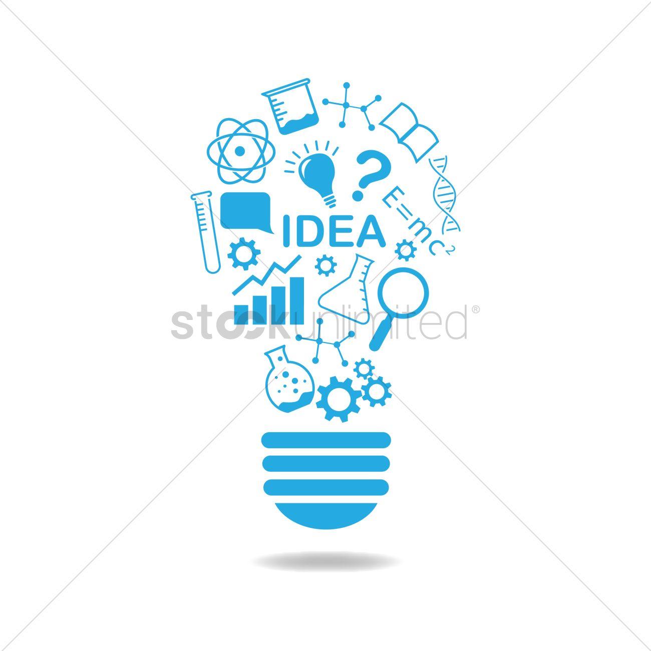 Lightbulb Concept Idea Generator Vector Image 1270168