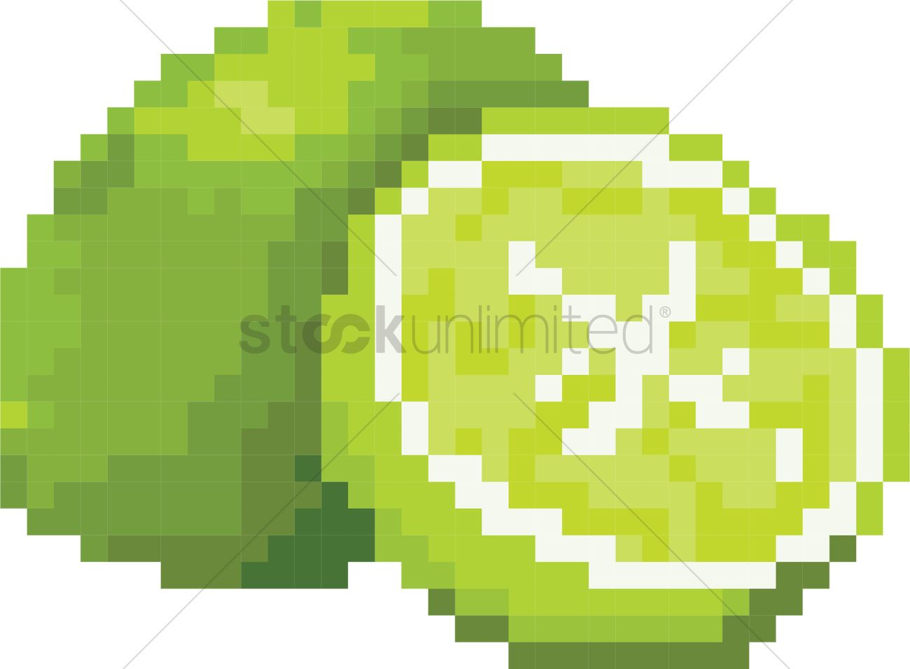 Lime pixel art Vector Image - 2021164   StockUnlimited