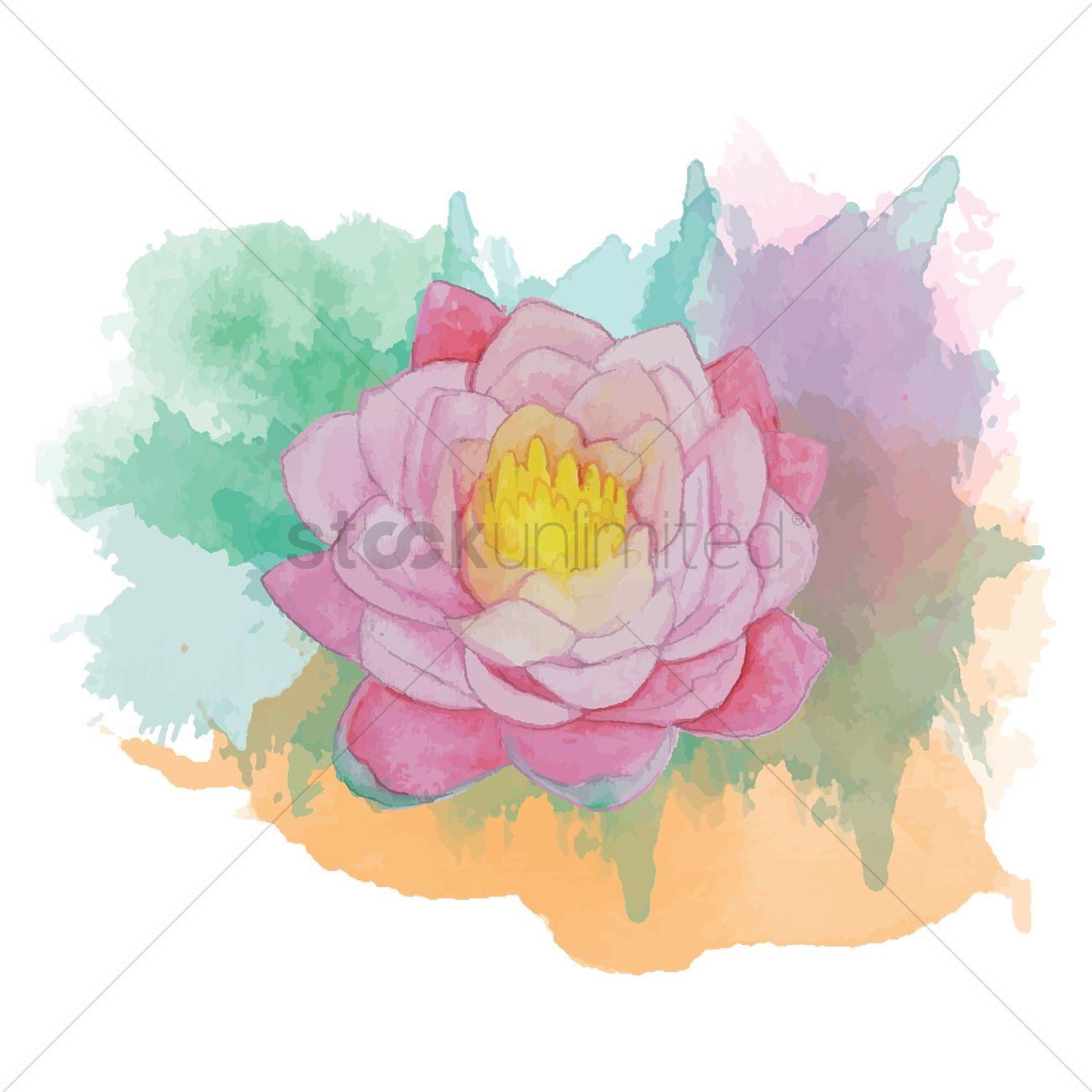 Lotus Flower Vector Image 1869388 Stockunlimited