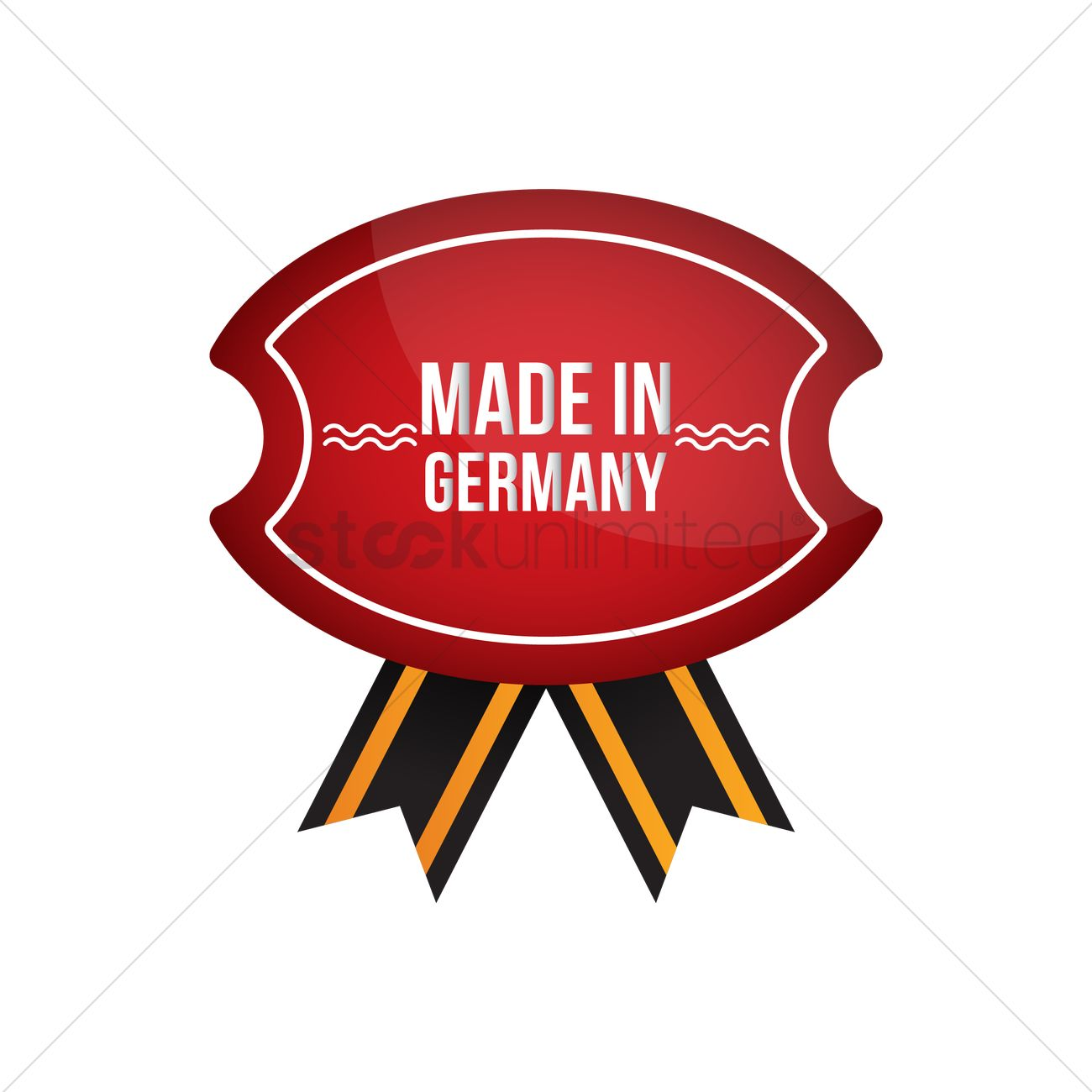 Made In Germany Ribbon Design Vector Image 1976840 Stockunlimited