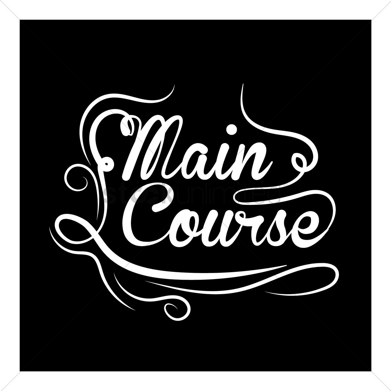 main course vector image 1863844 stockunlimited