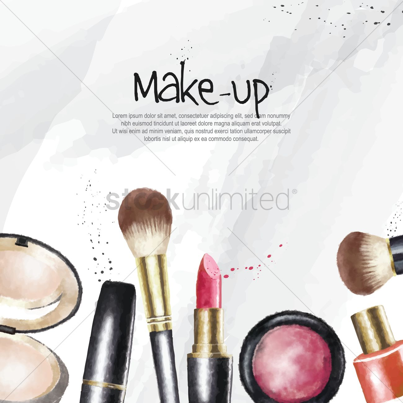 make up cosmetics wallpaper vector image 1825804