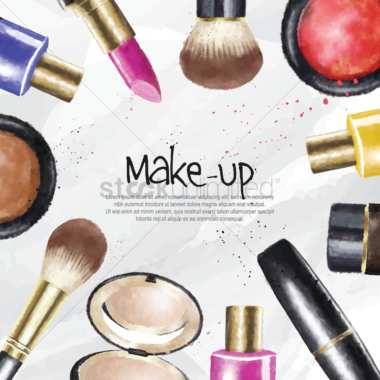 Make up cosmetics wallpaper Vector Image - 1825808