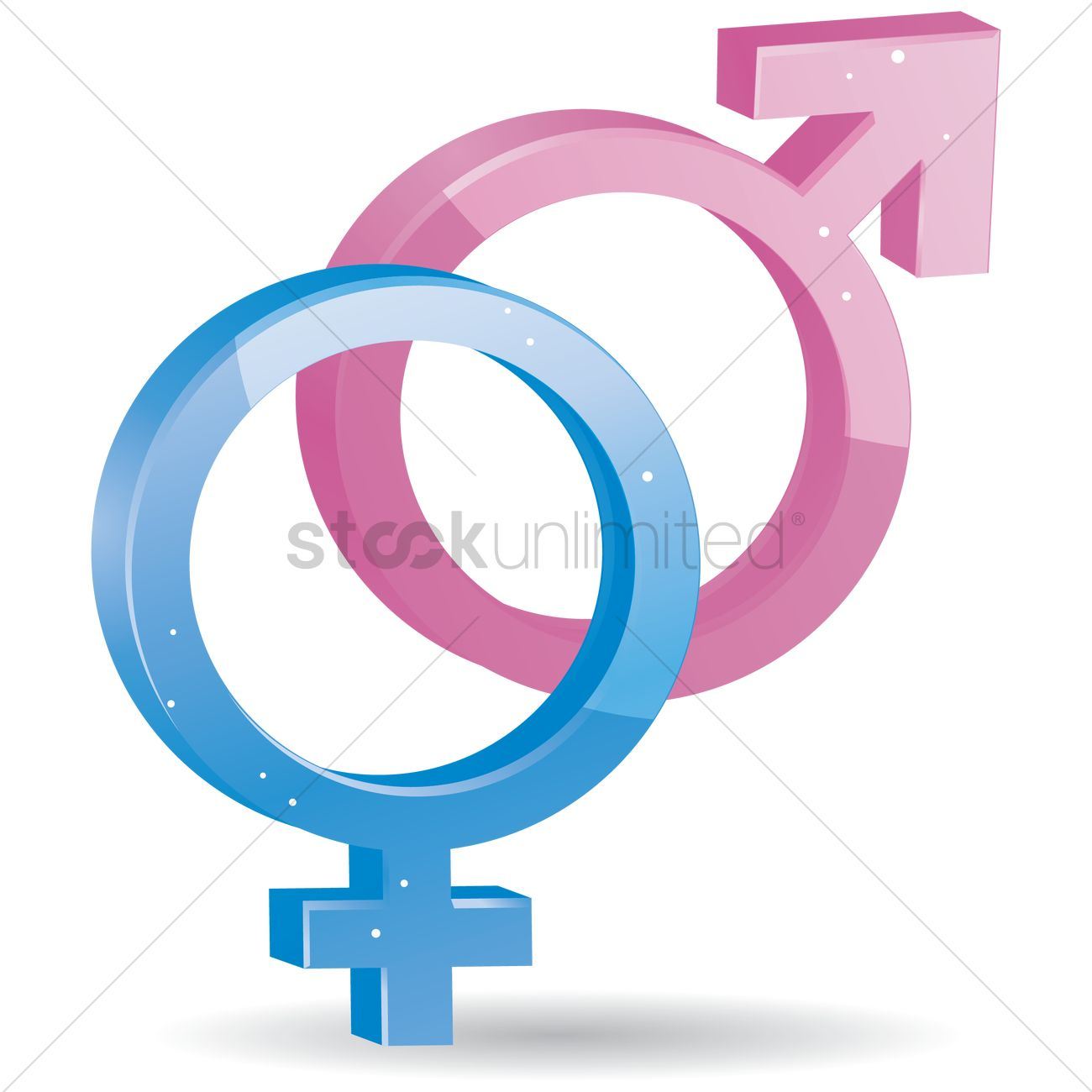 Free Male And Female Symbol Vector Image 1250420 Stockunlimited