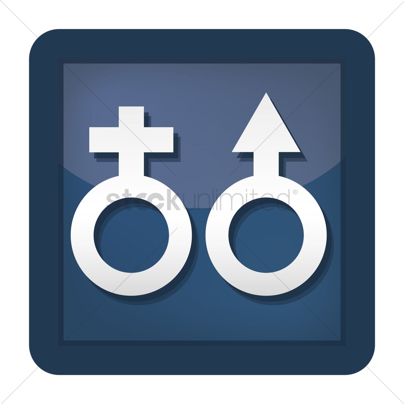 Male And Female Symbol Vector Image 1421400 Stockunlimited