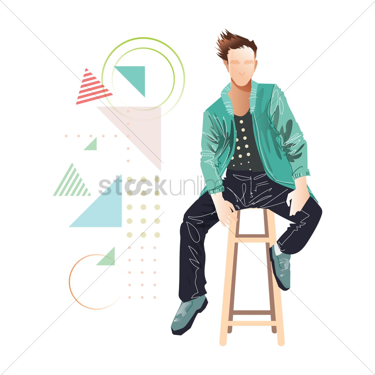 d88625a0 Man in casual wear Vector Image - 1959688   StockUnlimited