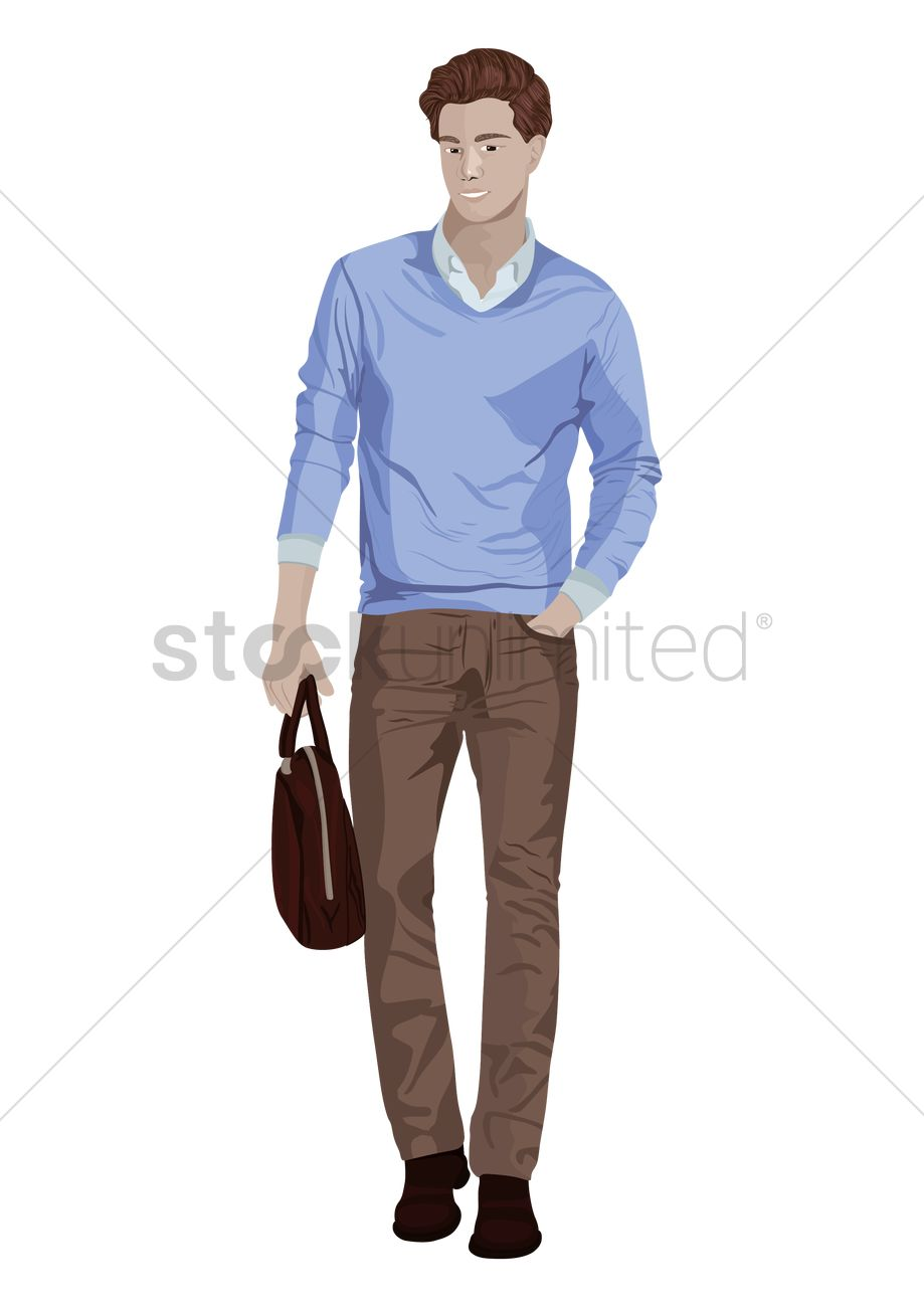 Dress code for smart casual smart casual dress code for men pictures - Man In Smart Casual Attire Vector Graphic