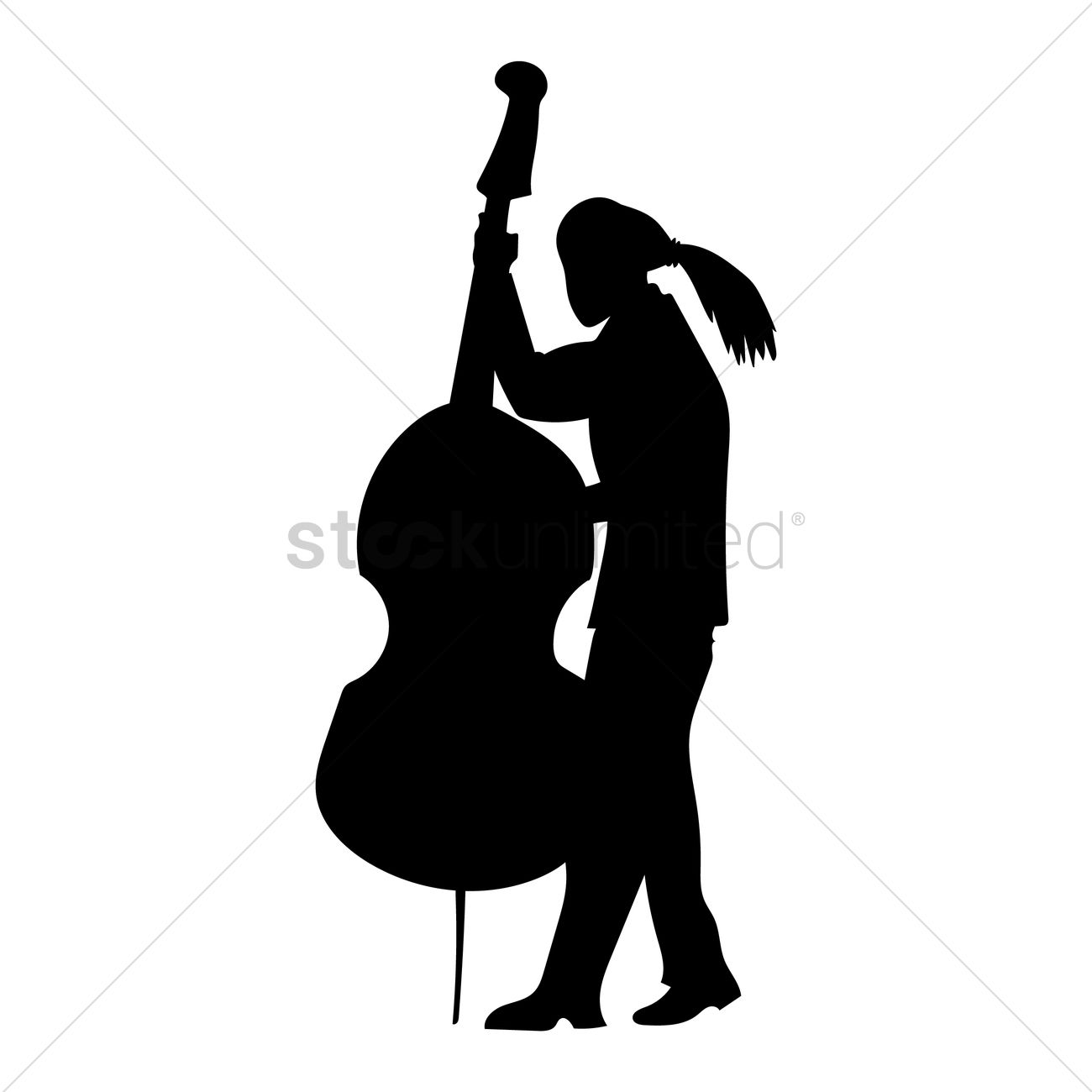 Man Playing Cello Vector Graphic
