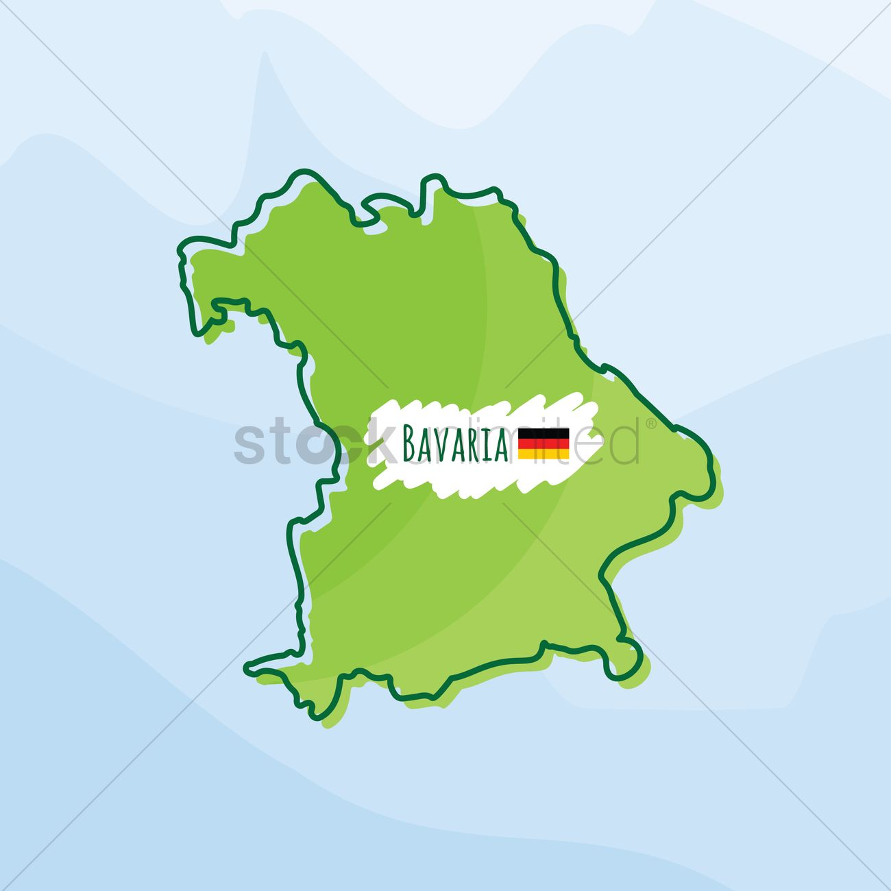 Map Of Bavaria Germany Vector Image 1980532 Stockunlimited