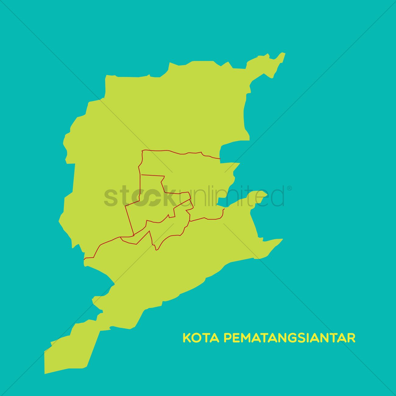 Map Of Kota Pematangsiantar Vector Image 1480212 Stockunlimited