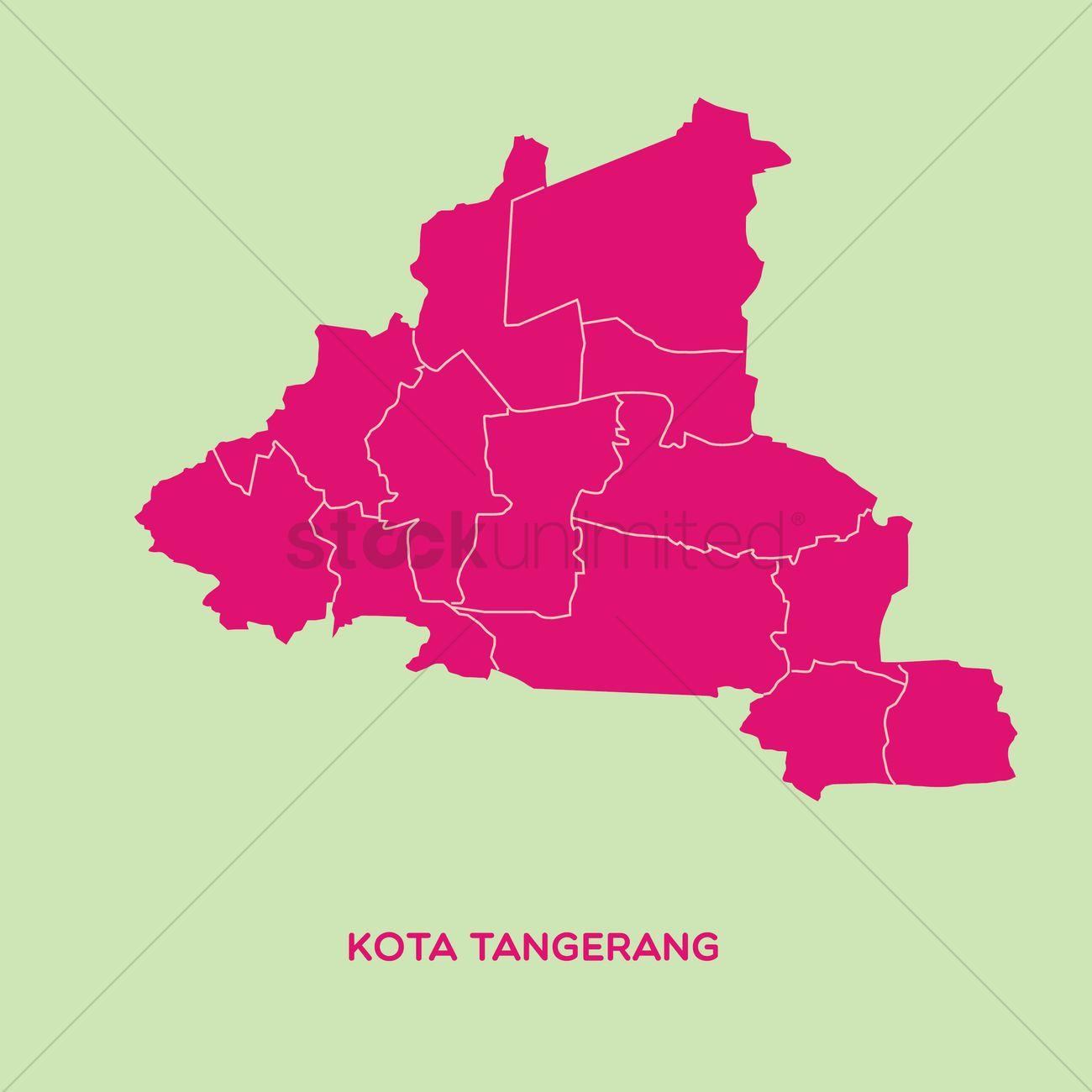 Map of kota tangerang Vector Image 1479800 StockUnlimited