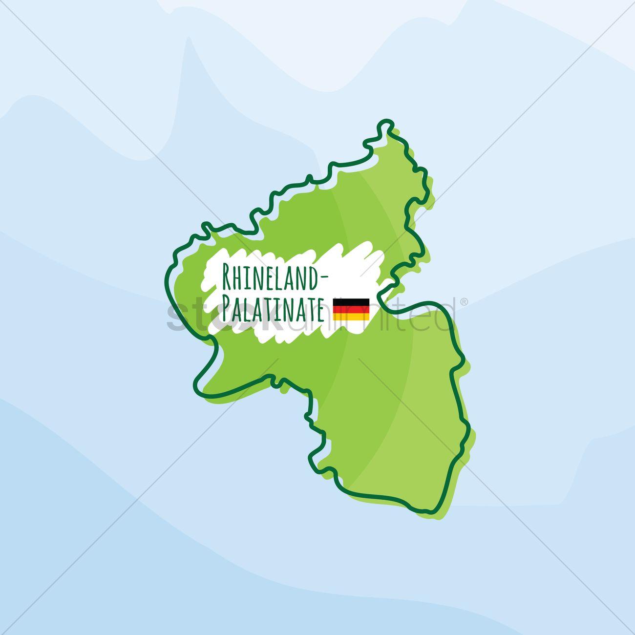 Map Of Germany Rhineland.Map Of Rhineland Palatinate Germany Vector Image 1980528