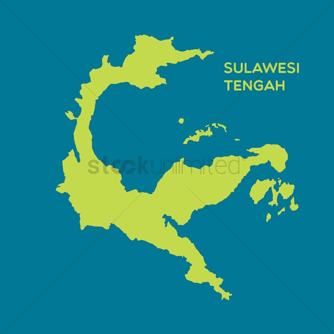 Map Sulawesi Tengah Vector Image 1480456 Stockunlimited Graphic Gambar Peta