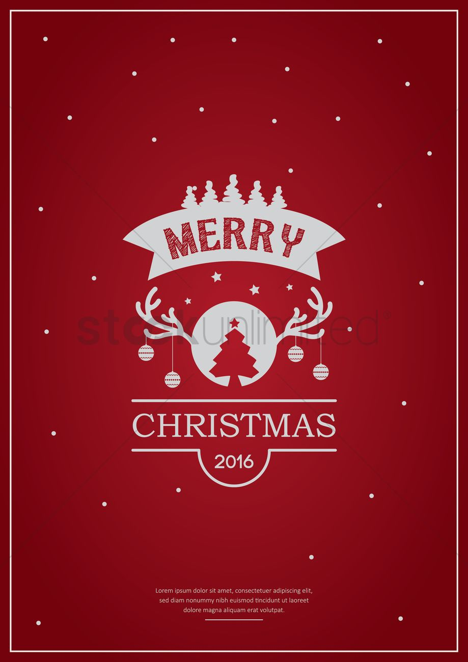 Merry Christmas Poster Design Vector Image 1744236 Stockunlimited