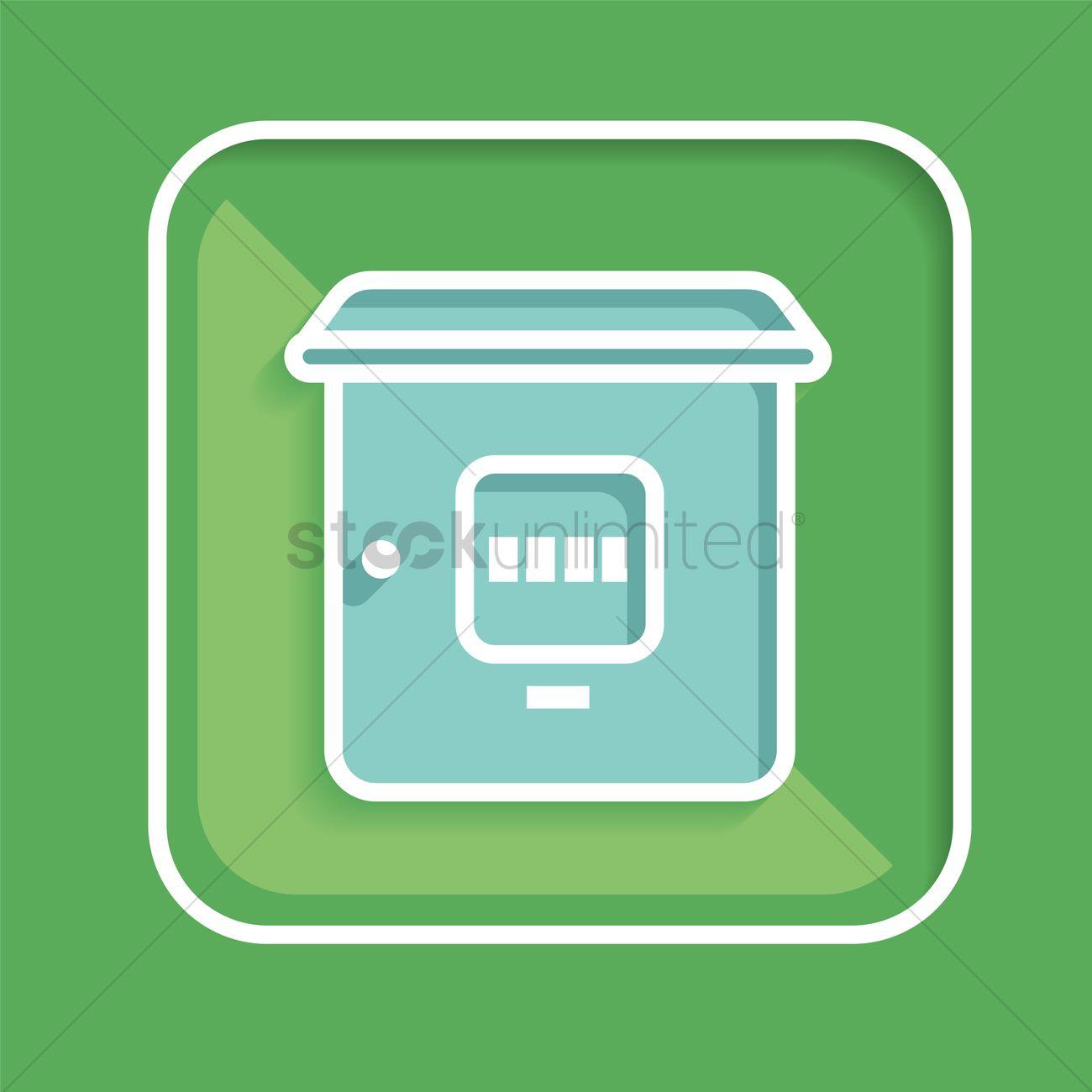 Free Meter box Vector Image - 1390292 | StockUnlimited