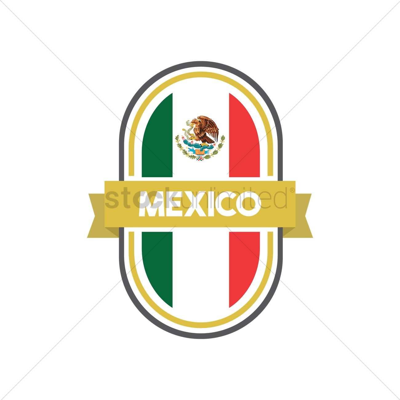 Mexican flag label vector image 1618480 stockunlimited mexican flag label vector graphic biocorpaavc Gallery