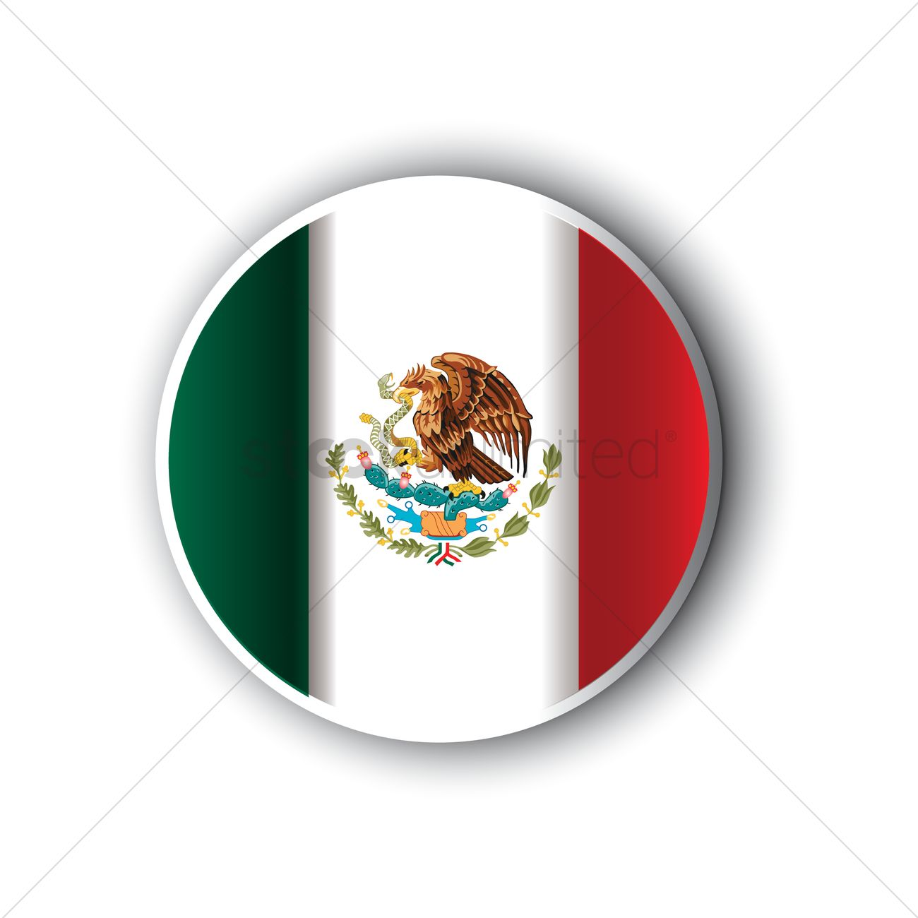 mexico flag icon vector image 1614004 stockunlimited rh stockunlimited com