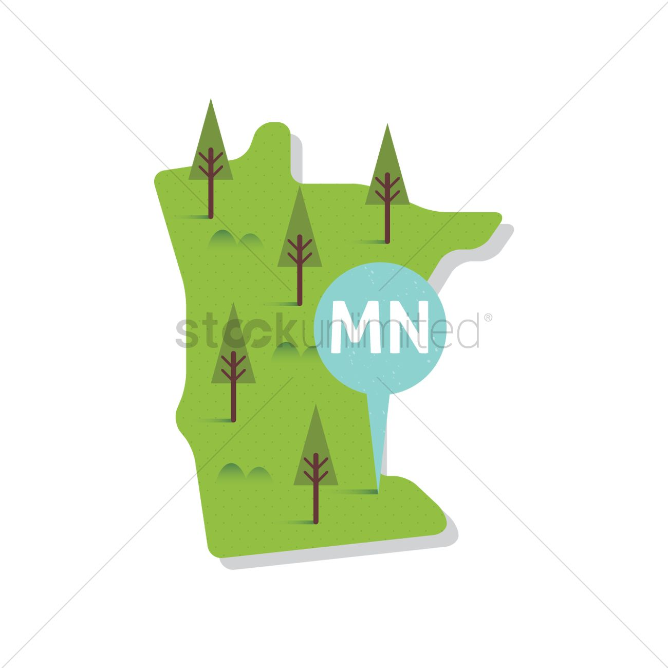 Free Minnesota State Map Vector Image 1556860 Stockunlimited