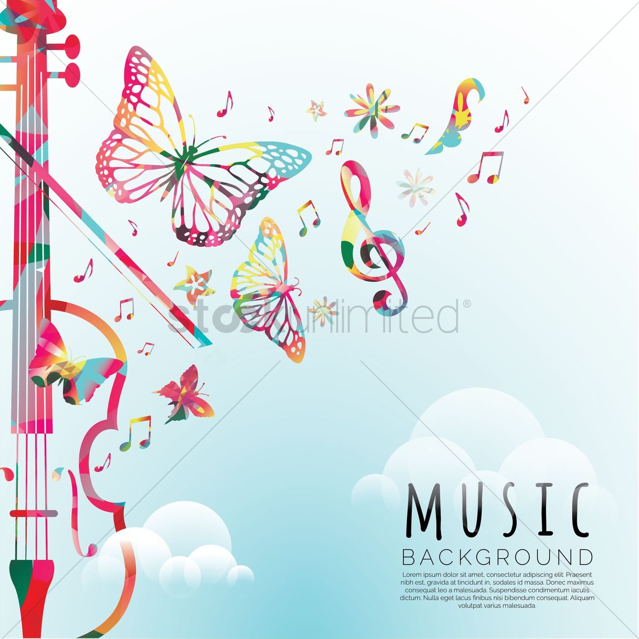Colorful Musical Background Color Beautiful Ripple Music