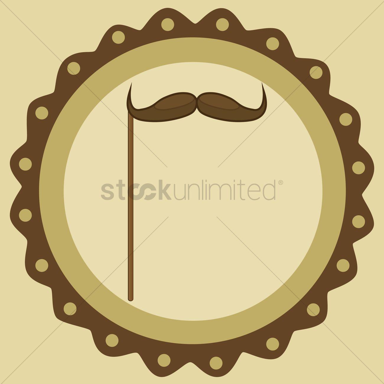 Free Mustache Prop Vector Graphic
