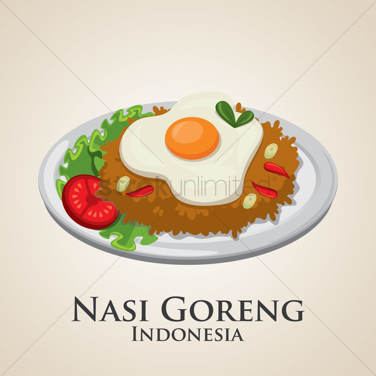 Nasi goreng indonesia Vector Image - 1993500 | StockUnlimited