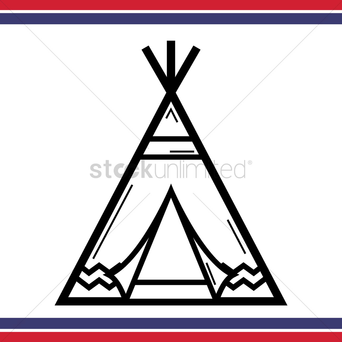 native american tepee tent vector graphic  sc 1 st  StockUnlimited & Native american tepee tent Vector Image - 1557592   StockUnlimited