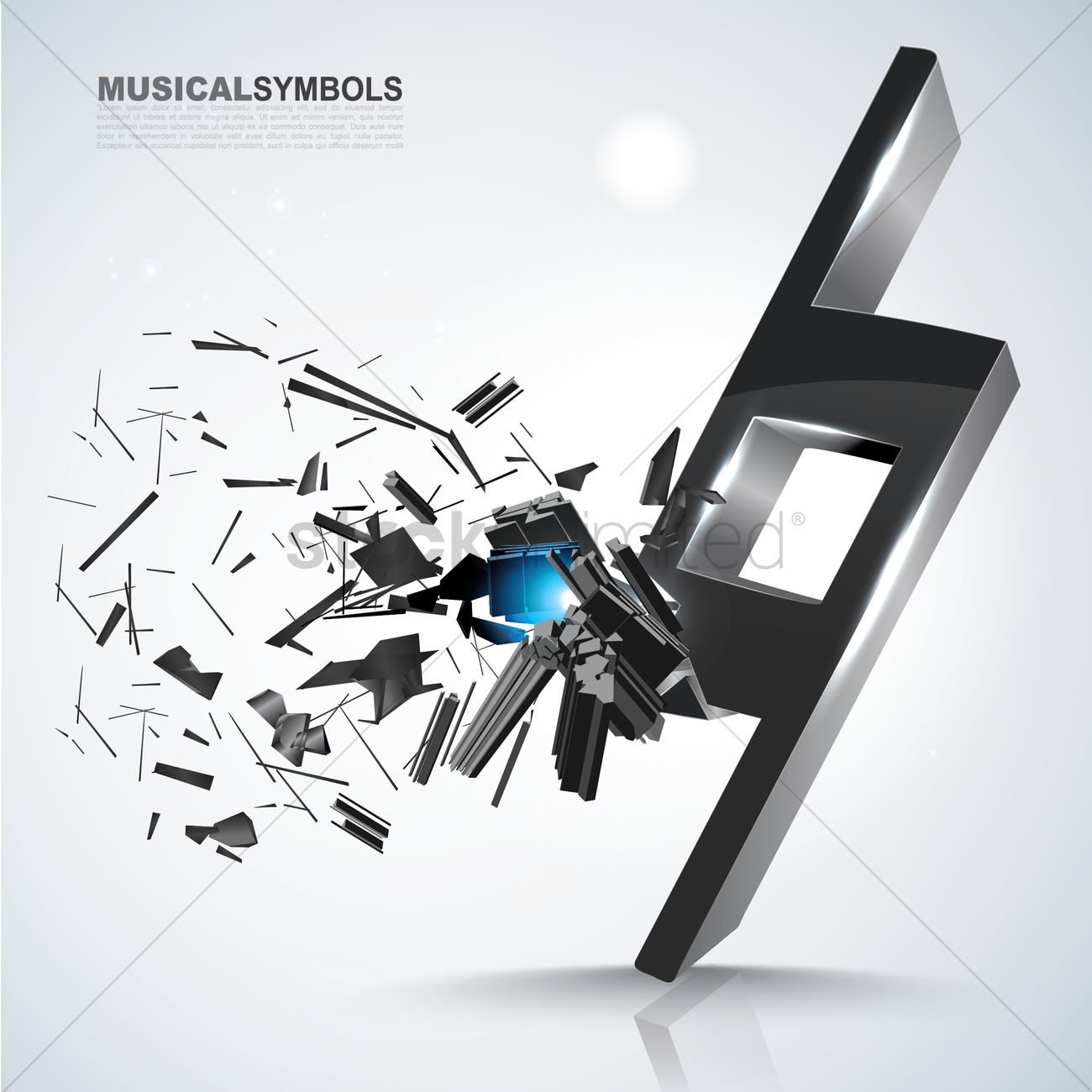 Natural Music Symbol Vector Image 1591732 Stockunlimited