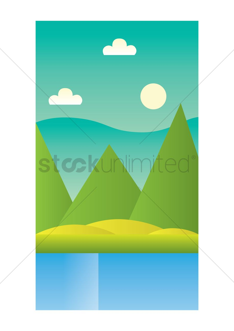 Nature Wallpaper For Mobile Phone Vector Image 1635708