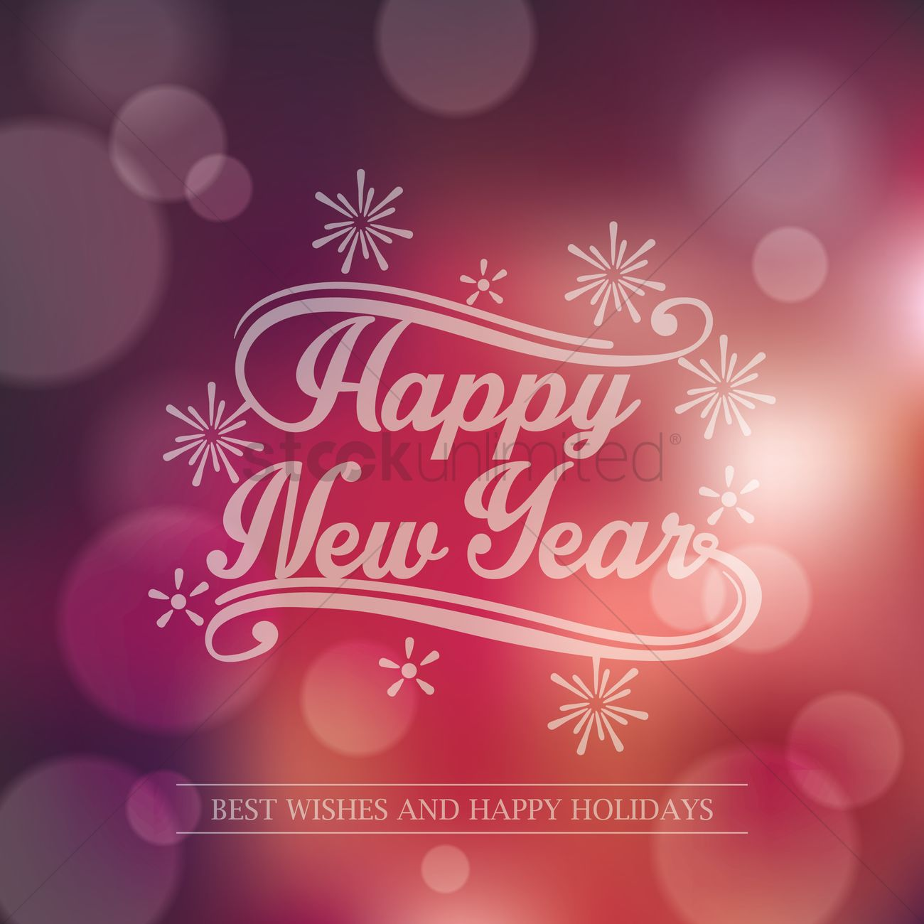 New Year Greeting Vector Image 1805292 Stockunlimited