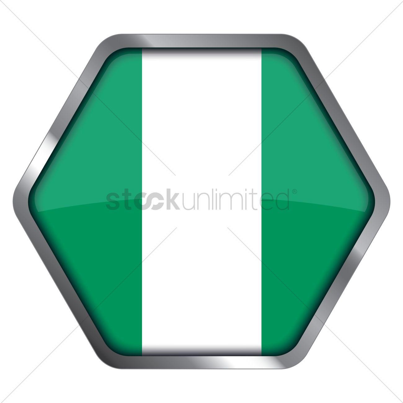 Nigeria flag hexagon frame Vector Image - 1340836 | StockUnlimited