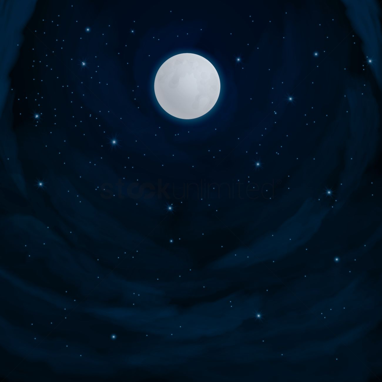 Night sky background Vector Image - 1533840 | StockUnlimited