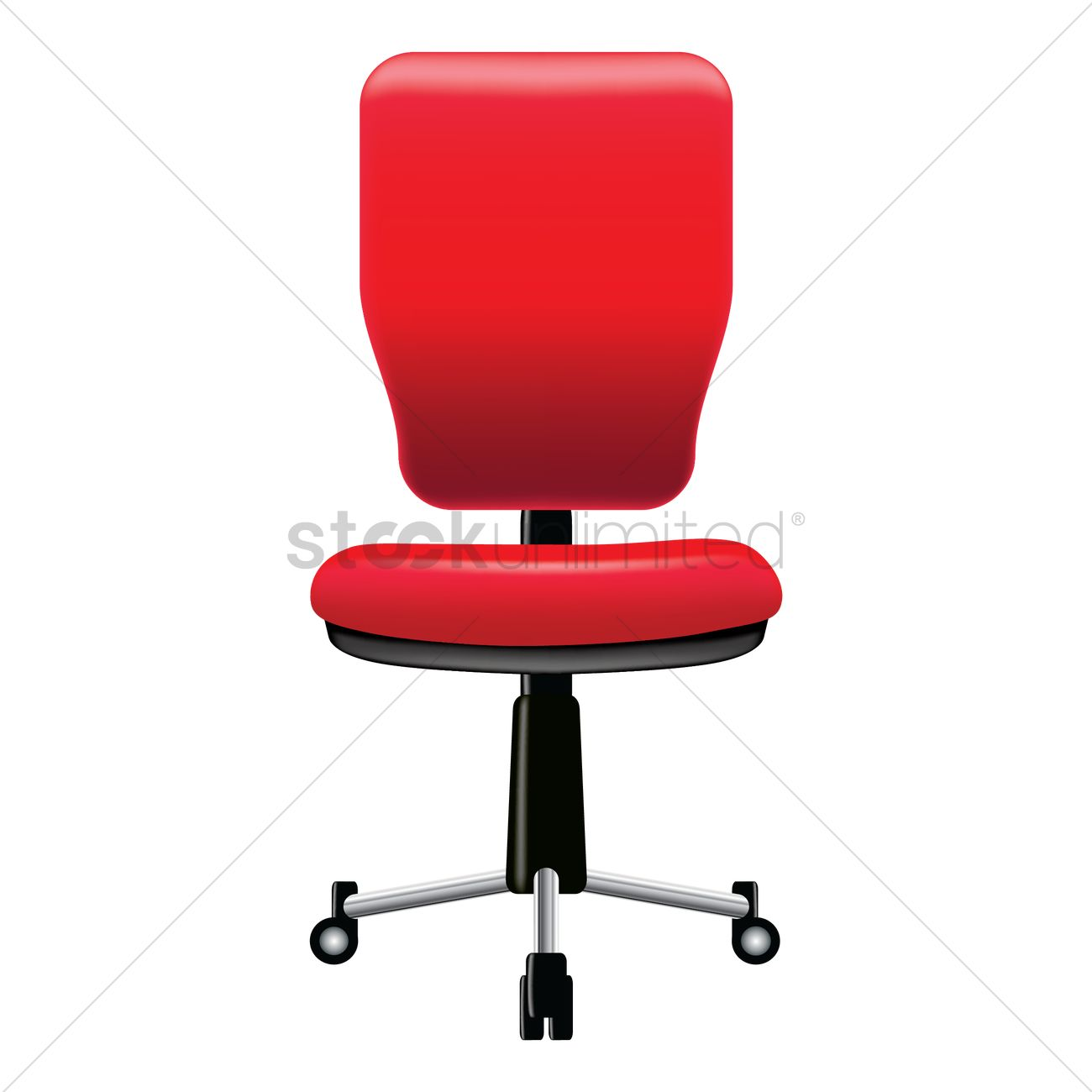 Office Chair Vector Graphic