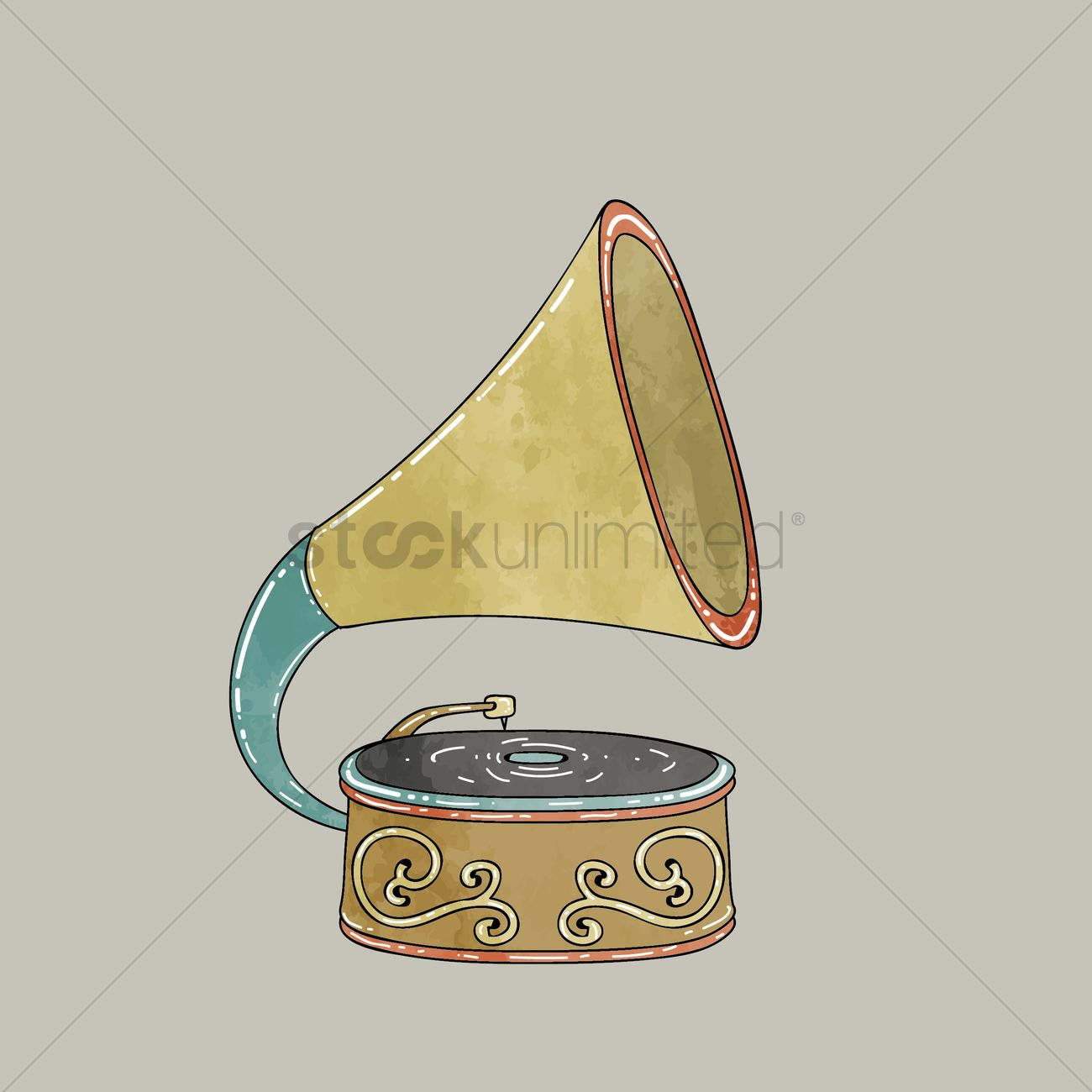 free old gramophone vector image 1310464 stockunlimited stockunlimited