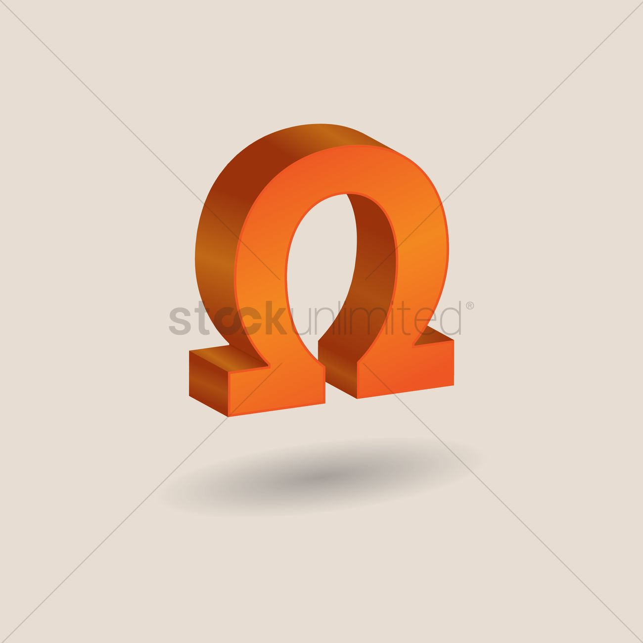 Omega Symbol Vector Image 1608236 Stockunlimited