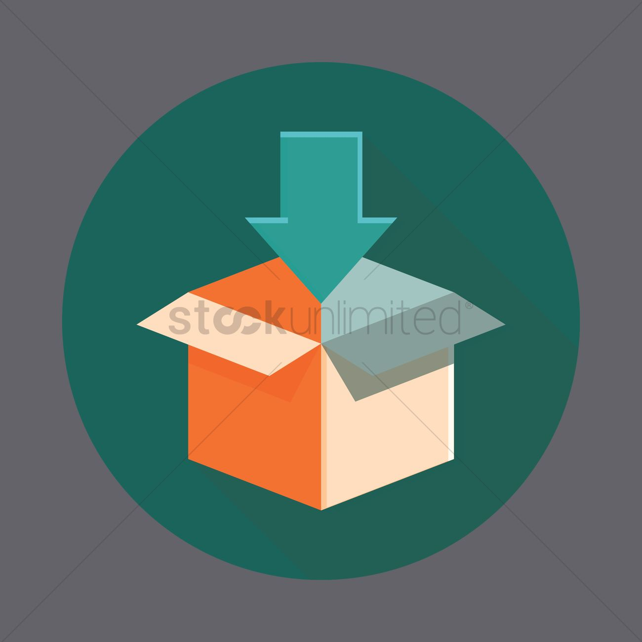 Opened cardboard box with arrow pointing down vector image 1378948 opened cardboard box with arrow pointing down vector graphic biocorpaavc Choice Image