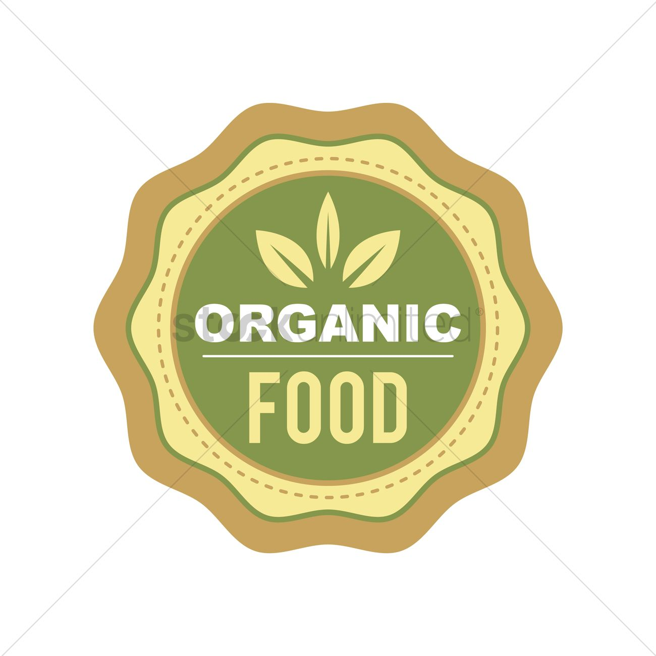 Organic food label design Vector Image - 2029872