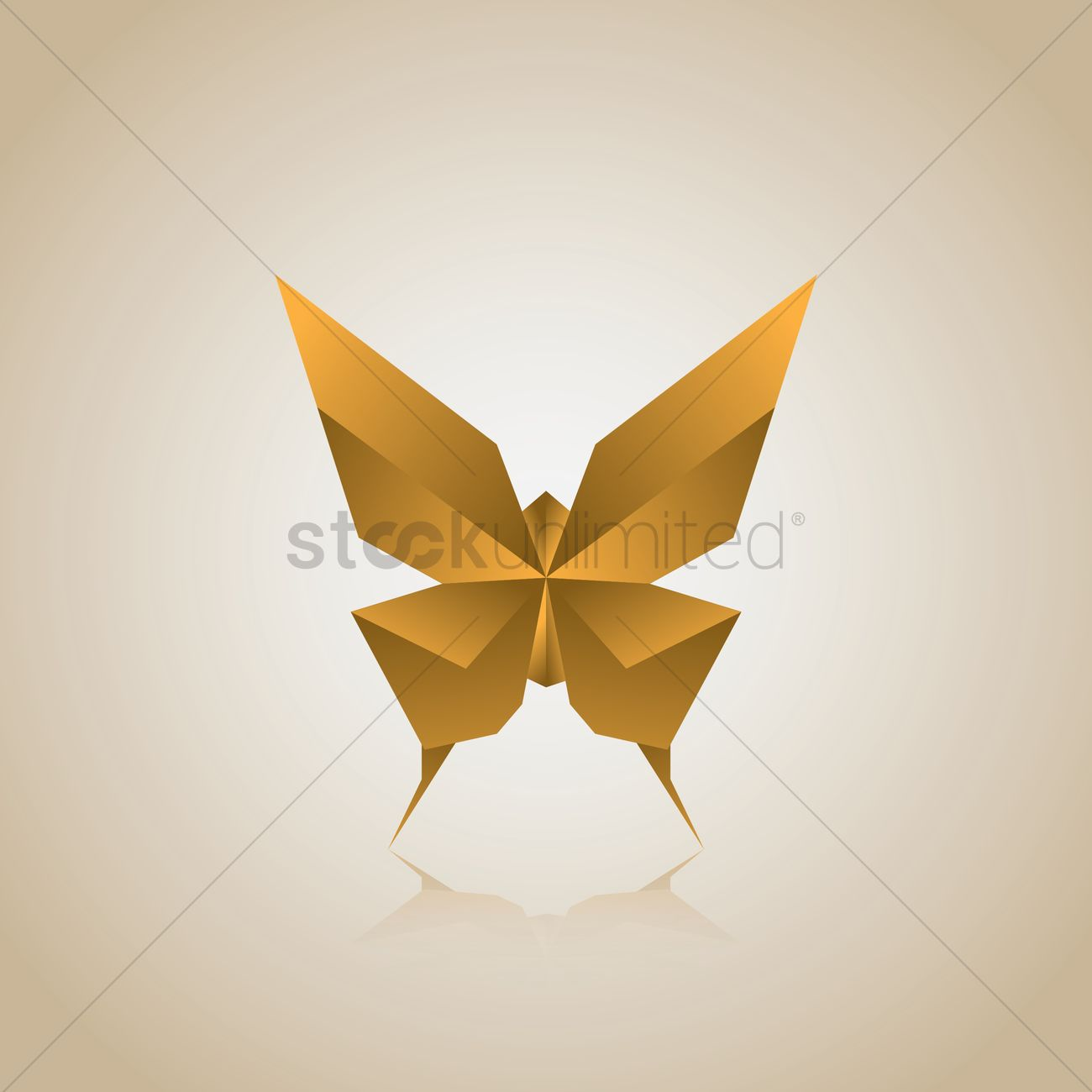 Free Origami Butterfly Vector Graphic