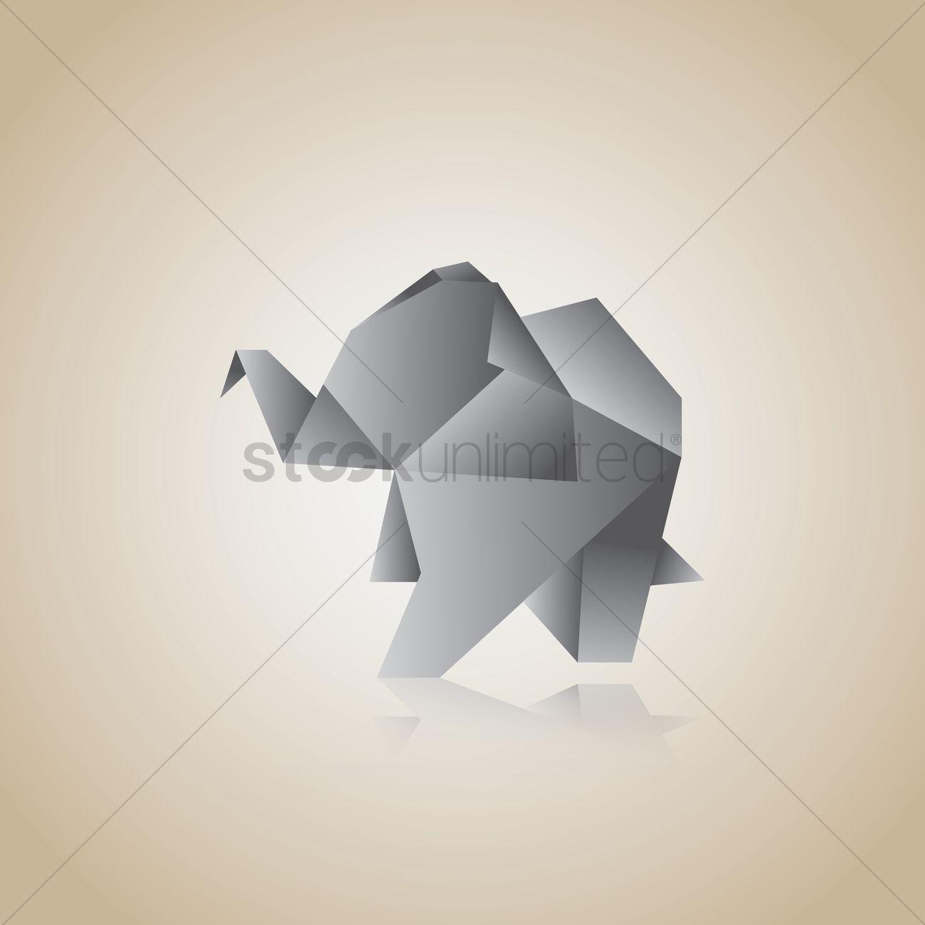 Free origami elephant vector image 1482032 stockunlimited free origami elephant vector graphic jeuxipadfo Choice Image