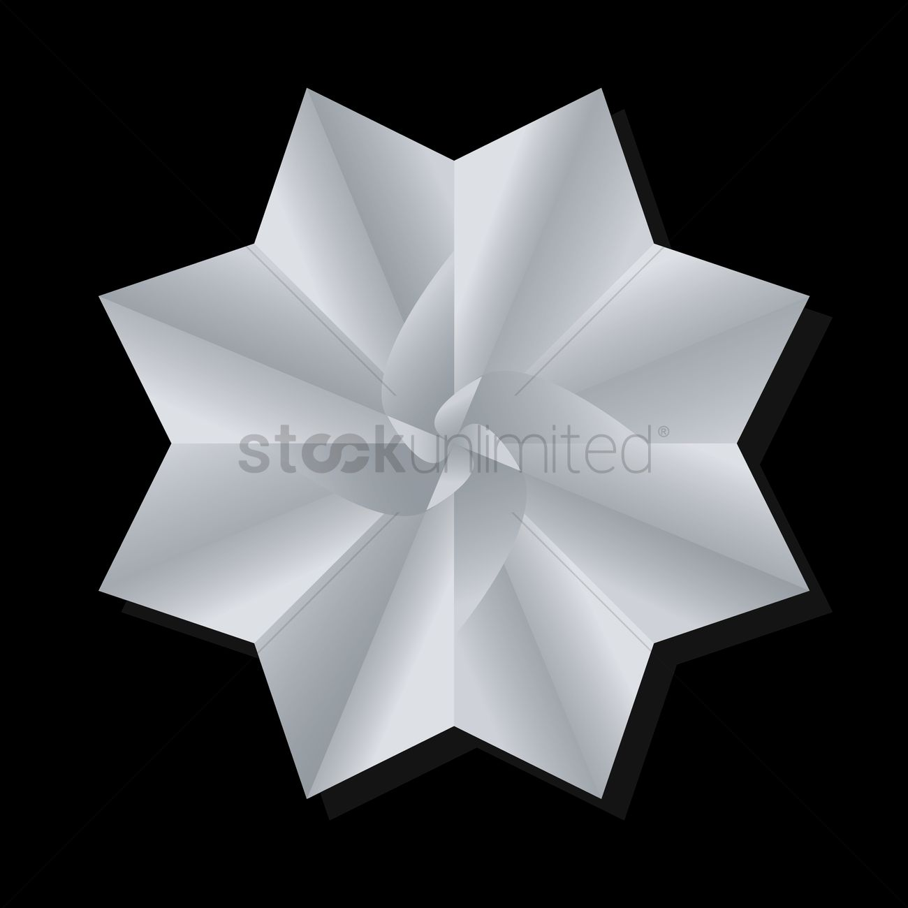Origami Flower Vector Image 1439764 Stockunlimited
